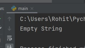 Python check if string is empty
