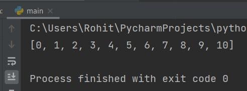 Python convert range to list