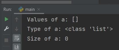 Python create empty list