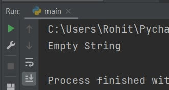 Python empty string