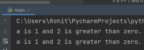 Python if statement AND operator