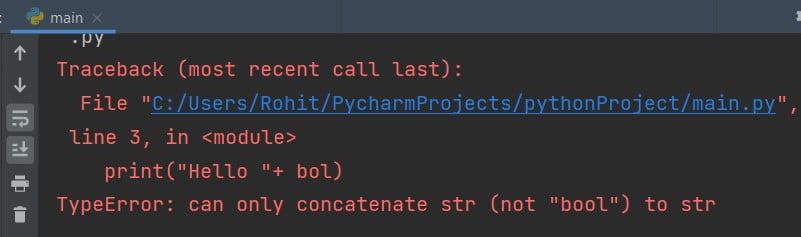 Python print Boolean