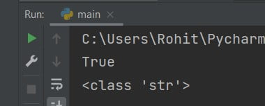 Python print Boolean as a string