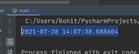 Python print DateTime now