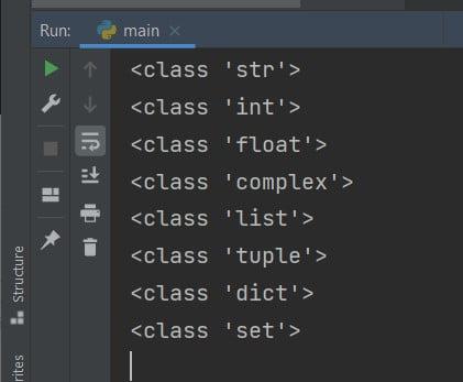 Python print type of variable