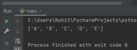 Python sort list of strings