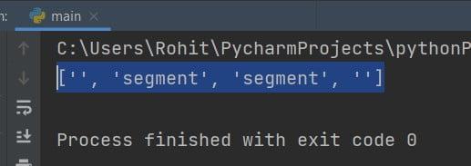 Python split ignore empty