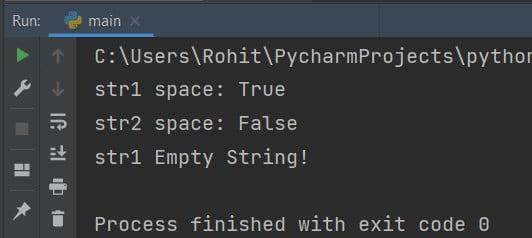 Python string Empty or Whitespace