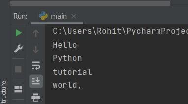 Sort words in alphabetical order Python