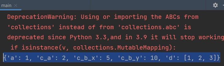 Flatten Dictionary Python