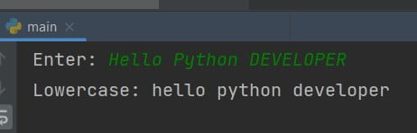 Program to read a character in Uppercase and print it in lowercase in Python
