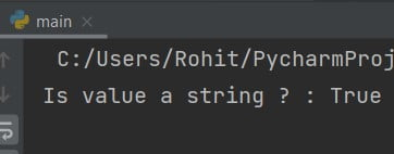 Python check if value is string