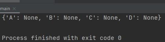 Python create empty dictionary with keys