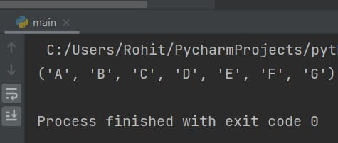 Python print tuple values