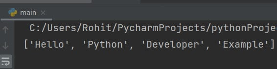 Python slice string by character
