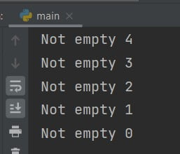 Python while list is not empty