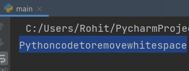 Remove all spaces from string Python
