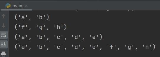 slice notation Python