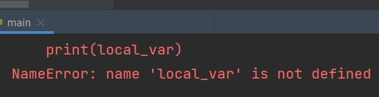 A local variable in Python