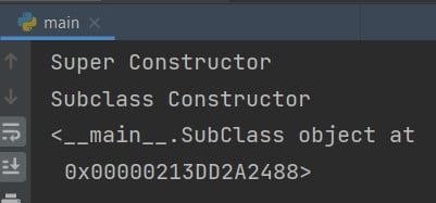 Python call super constructor