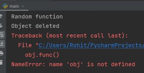 Python delete class instance