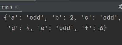 Python dict comprehension if-else