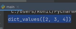 Python print dictionary values