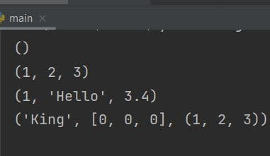 How to create a tuple in Python