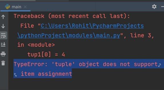 Immutable data types in Python