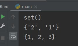 Set function in Python